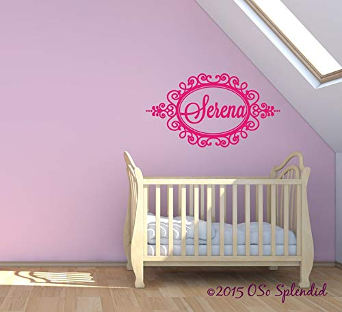 CECILIAPATER Decorative Personalized Design Vinyl Wall Decal - Great for Nursery Above Crib - Custom Bedroom Headboard Wall D¨¦cor Sticker - Any Color