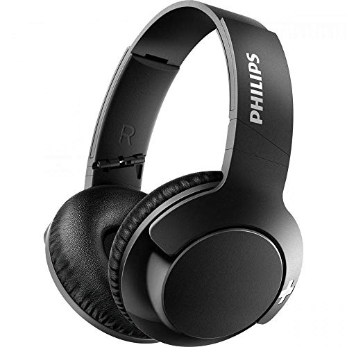 Philips BASS+ SHB3175 Wireless Headphones, up to 12 Hours of Playtime - Matte Black