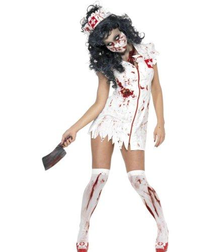 Déguisement zombie infirmière femme Halloween XS