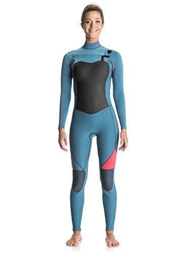 Roxy Womens Roxy Performance 3/2Mm - Chest Zip Full Wetsuit - Women - 6 - Blue Legion Blue - Good Wetsuits