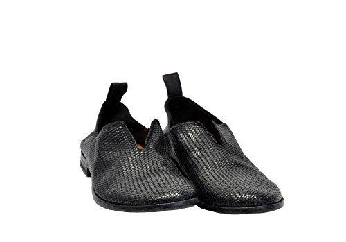 Slip MOMA on MOMA 16802XA Sneakers Uomo Nero Pelle Slip pqqTwxfEZ