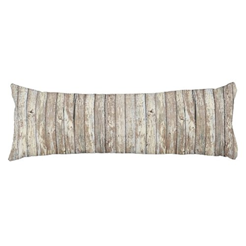 Weathered Barn Wood Body Pillowcase Pregnancy Long Body Pillow Cover Decorative Silky Body Pillow Protectors 20''x 54''