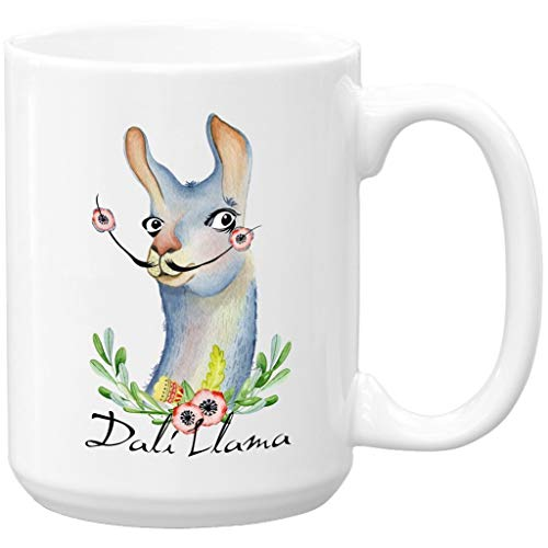 Llama Coffee Mug, Dali Llama, Large 15 oz Coffee Mug Funny Mug ()
