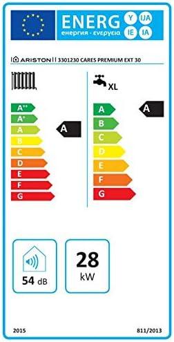Ariston - Caldera de condensación exterior Ariston Cares Premium EXT - 30 kW, alimentación por metano, en almacén