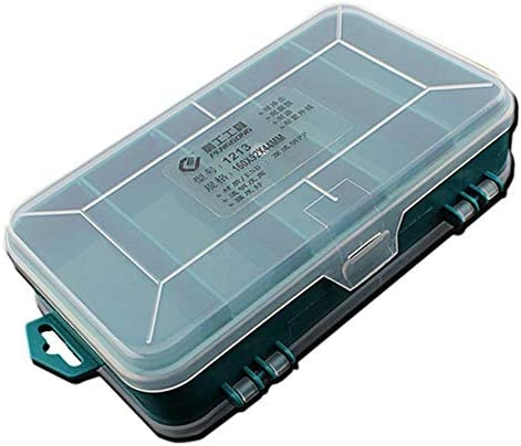 Miwaimao ボックス 収納,13グリッドツールボックスダブルサイドツールボックスオーガナイザーストレージボックス小型コンポーネント用多機能ツールケース