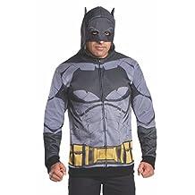 Rubies Costume Men's Batman V Superman Dawn of Justice Batman Costume Hoodie