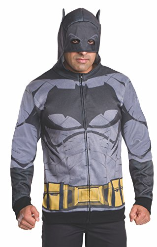 Batman Family Halloween Costumes (Rubie's Men's Batman v Superman: Dawn of Justice Batman Costume Hoodie, Multi, X-Large)