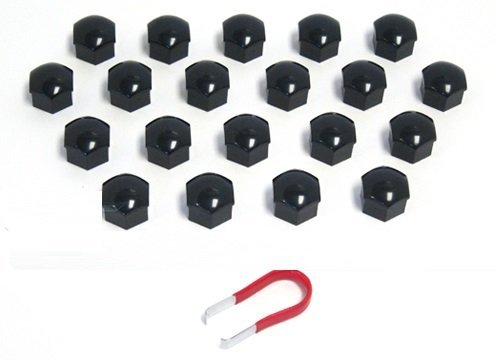 BLACK LUG BOLT NUT COVERS FOR MINI MODELS - ALL MODELS COOPER CLUBMAN