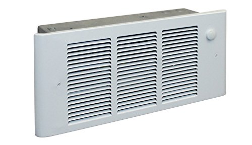 Fan 120v Forced Wall - QMark GFR1500F Surface or Recessed Wall Mounted Register Style Electric Residential Wall Heater