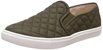 Steve Madden Women's Slip-On Fashion Sneaker, Olive, 6 W US
