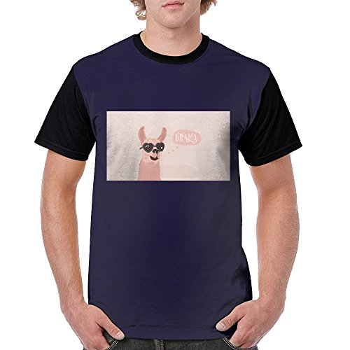 Llama With Sunglass Cool Hip Hop Comfort Premium Fit T-Shirts For - Sunglasses In Made England