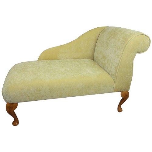 104,14 cm Mini Chaise Longue en Pimlico Amarillo de tela de ...