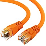 GOWOS Cat6 Ethernet Cable (3 Feet - Orange) UTP - Computer Network Cable with Snagless Connector - RJ45 10Gbps High Speed LAN Internet Patch Cord - Available in 28 Lengths and 10 Colors