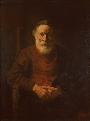 Oil Painting 'Portrait Of An Old Man In Red,1654 By (Special Blend Battery Pant)