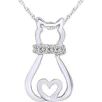 Lex /& Lu Sterling Silver w//Rhodium /& Rose Gold-plated CZ Heart Earrings LAL110617