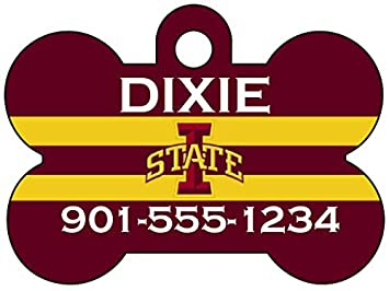 uDesignUSA NCAA Dog Tag Pet Id Tag Personalized w//Name /& Number