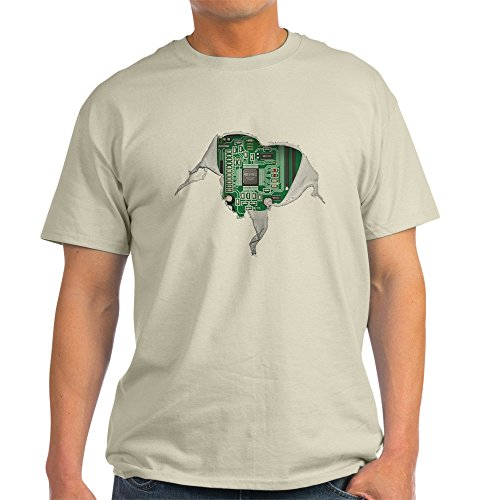 CafePress Motherboard Heart 100% Cotton T-Shirt