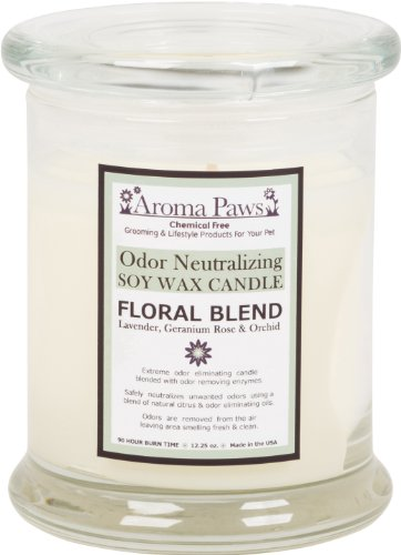 Aroma Paws Odor Neutralizing Candle, 12-Ounce, Floral