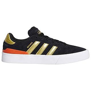 adidas Busenitz Vulc II (Core Black/Gold Metallic/Solar Red) Men's Skate Shoes-9