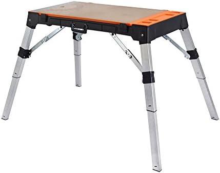Banco carpintero 4-en-1: mesa de trabajo, escalera de mano, carro ...