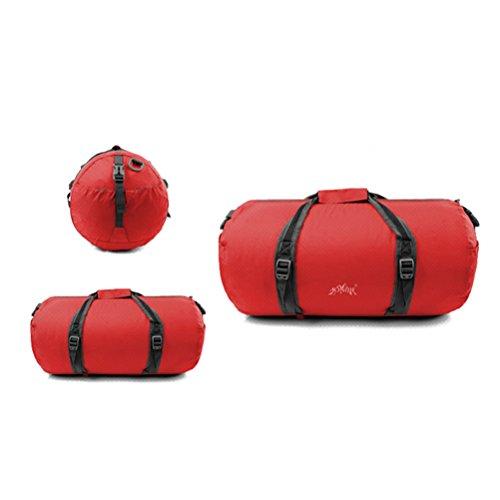 Aosbos Mochila Bandolera para Deporte Bolsa Plegable y Ligera para Gimnasio Viaje 45L (rosa) rojo