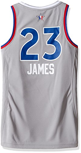 NBA Women's Cleveland Cavaliers LeBron James 2017 All-Star Replica Jersey, Medium, Gray
