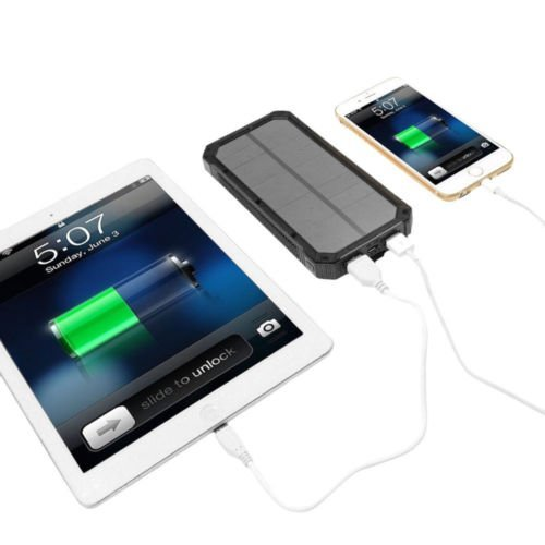 Waterproof 50000mAh USB Solar Charger Power Bank (Black) - 3