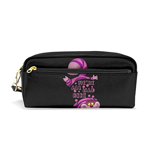Alice in Wonderland Cheshire CAT Large Capacity Pencil Case Pen Bag Pouch Stationary Case Makeup Cosmetic Bag