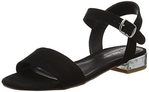 Head Over Heels WoMen Niccy Ankle Strap Sandals Black (Black-micro_fibre)