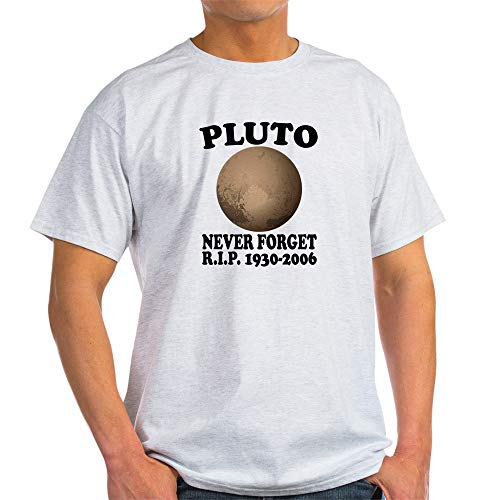 (CafePress Pluto Never Forget T Shirt 100% Cotton T-Shirt Ash Grey )