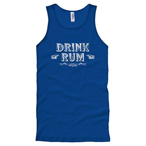 (Smash Transit Men's Drink Rum Tank Top - Royal Blue, Medium)