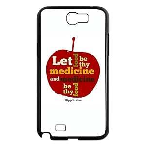 APPLE Let Food be thy Medicine Samsung Galaxy N2 7100 Cell Phone Case Black HX4466210