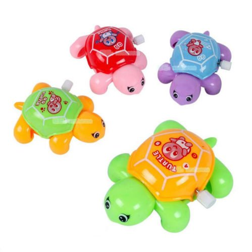 1PC Clockwork Wind Up Swimming Animal Baby Turtle Bath Toy Random Colors - Goggles Tommy
