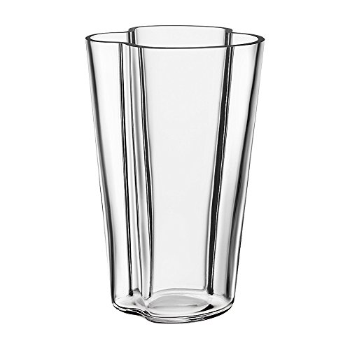 Iittala Alvar Aalto Collection Glass Vase 220 mm, Clear - Iittala Aalto Flower Vase