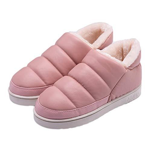 Autunno Cotone Amanti Casa 19cm Calde Jia Moda Impermeabile Pink Inverno Hong Della Di Antiscivolo 40 Esplosione 39 red Pantofole Cuoio Modelli E wt4SA