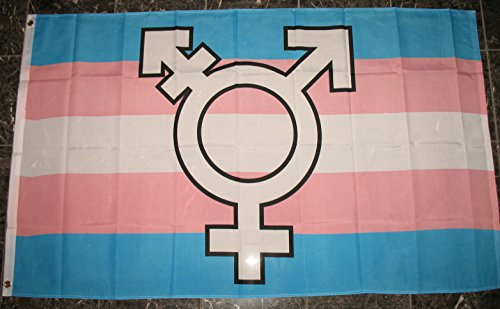 Transgender Symbol Pride Flag 3'x5' Transexual Rights Banner