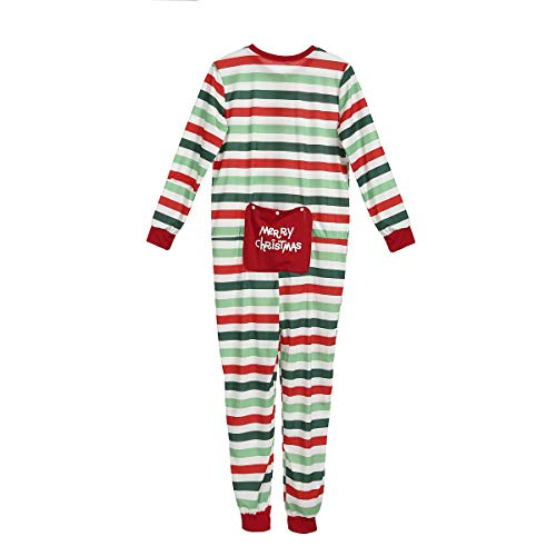 Merry Christmas Family Pajamas Set Striped Onesie Parent-Child Sleepwear Adult Kids Romper Jumpsuit (Dad, XXL)