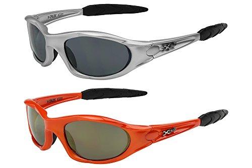 2er Pack X-CRUZE® Fahrradbrille Sportbrille Sonnenbrille Brille Herren Damen rot