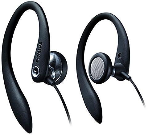 Philips SHS3200BK/37 Flexible Earhook Headphones, Black - Sj Speaker Cable