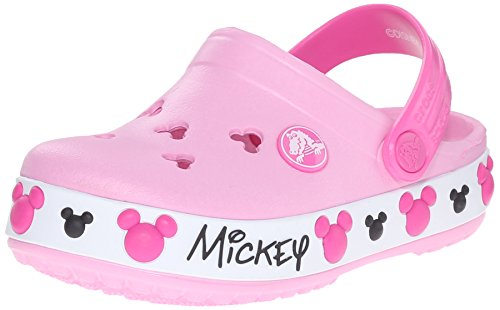 Crocs Crocband Mickey IV K Clog (Toddler/Little Kid), Carnation, 10 M US Toddler/11 M US Little Kid by Crocs