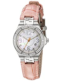 Fendi Women's 'High Speed' Swiss Quartz Stainless Steel and Leather Dress Watch, Color:Pink (Model: F414247DDC)