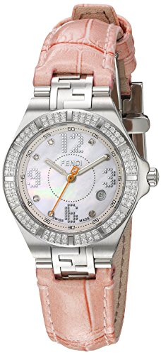 Fendi Women's 'High Speed' Swiss Quartz Stainless Steel and Leather Dress Watch, Color:Pink (Model: F414247DDC) - 41KveZBOy0L - Fendi Women's 'High Speed' Swiss Quartz Stainless Steel and Leather Dress Watch, Color:Pink (Model: F414247DDC)