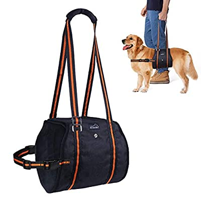 Dog Lift Harness, PETBABA Mobility Rehabilitation Sling Support Harness with Handle for Medium to Large Elder Dog Especially for Aid Injury and Arthritis