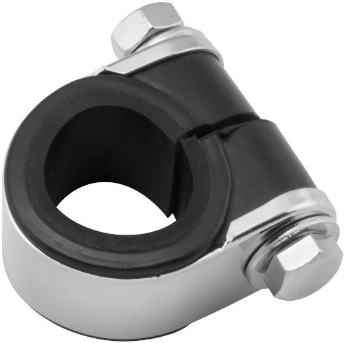 (Biker's Choice Universal Handlebar Gauge Clamp (Chrome) )