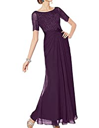 Sunvary Modest Mother of Bride Dress Short Sleeves A-line Applique Pleated