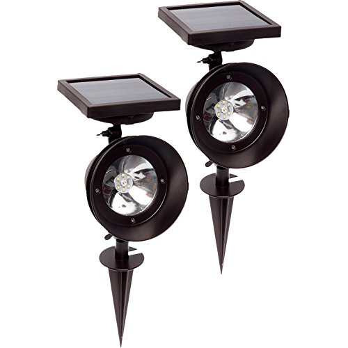 2 Pack GreenLighting Super Bright Triple Function Solar Spotlight (Remington Bronze) by GreenLighting