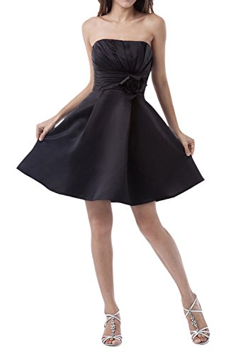 *maillsa satin strapless short bridesmaid dress prom dress party dress NT437