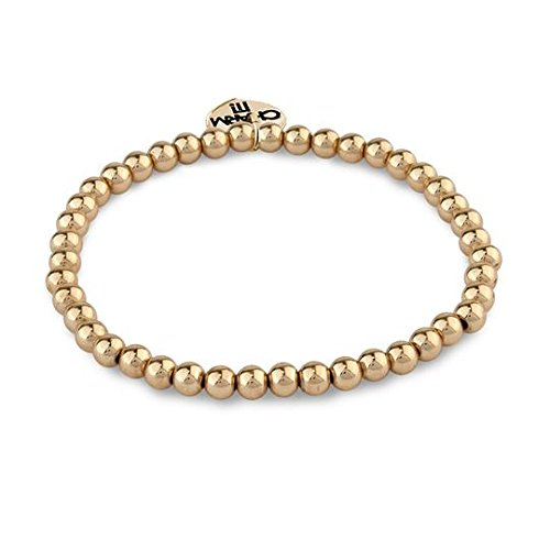 Gold Bead Stretch Bracelet - Charm It! 4mm Gold Bead Stretch Bracelet