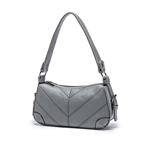 Zipper All New Autumn Meaeo Bags Handbags Gray Pu Crossbody Dark Ladies Soft Yarn Tide Bag Bags Bag Blue Womens Single Shoulder Women Agree OOAZ7np
