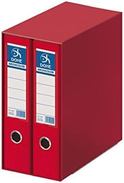 Dohe Archicolor - Módulo 2 archivadores A4, color rojo: Amazon.es: Oficina y papelería